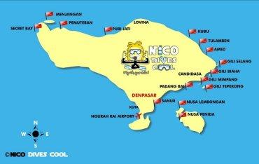 BALI DIVING MAP