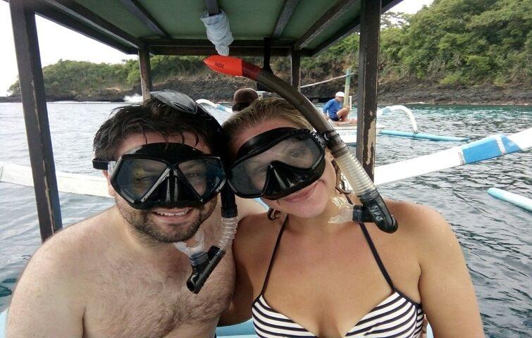Happy Snorkelers in Bali