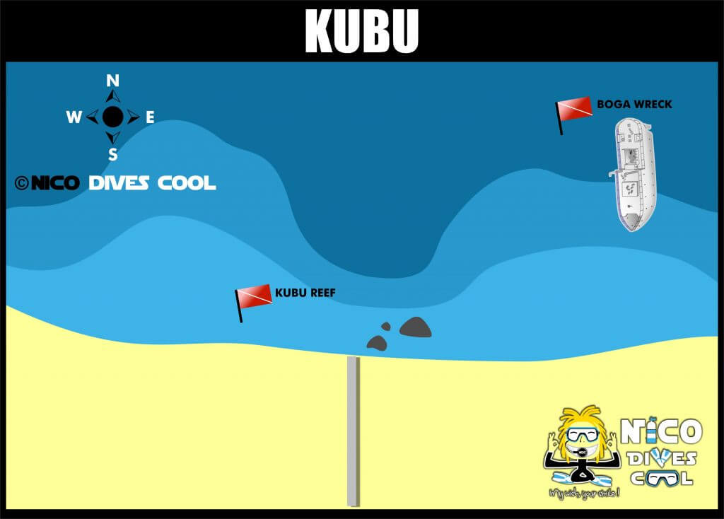 KUBU DIVING MAP