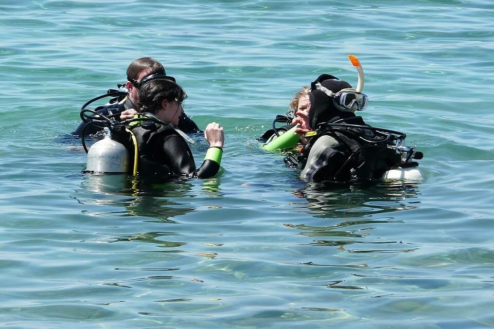 Search and Recovery dive course in Bali