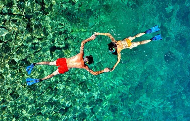 Snorkeling Padang Bai's beautiful dive spots in Bali